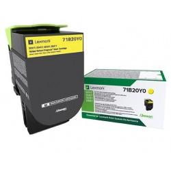 Toner Jaune Lexmark Return Program pour imprimante CS317dn/ Multifonction CX317dn