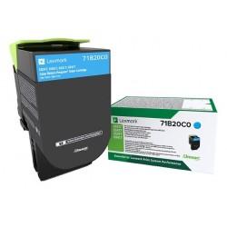 Toner Cyan Lexmark Return Program pour imprimante CS317dn/ Multifonction CX317dn