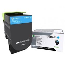Toner Cyan Lexmark pour imprimante CS317dn/ Multifonction CX317dn
