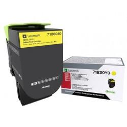 Toner Jaune Lexmark pour imprimante CS317dn/ Multifonction CX317dn