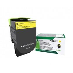 Toner Jaune, rendement élevé, LEXMARK Return Program pour imprimante CS417dn/ Multifonction CX417dn