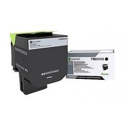 Toner Noir, rendement élevé, LEXMARK pour imprimante CS417dn/ Multifonction CX417dn