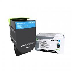 Toner Cyan, rendement élevé, LEXMARK pour imprimante CS417dn/ Multifonction CX417dn