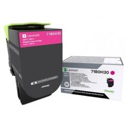 Toner Magenta, rendement élevé, LEXMARK pour imprimante CS417dn/ Multifonction CX417dn