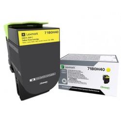 Toner Jaune, rendement élevé, LEXMARK pour imprimante CS417dn/ Multifonction CX417dn
