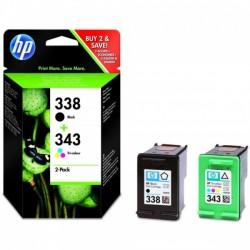 Pack HP de 2 cartouches Noir + Couleur (N°338 – N°343)