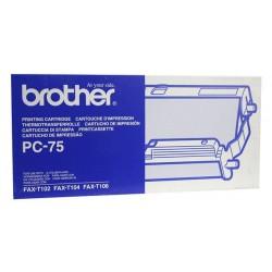 Ruban thermique Brother PC75 noir