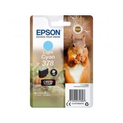 Cartouche  Cyan Clair Epson pour Expression Premium XP8500- XP8505 ... - (n°378 - Ecureuil)