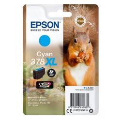Cartouche Cyan XL Epson pour Expression Premium XP8500- XP8505 ... - (n°378XL - Ecureuil)