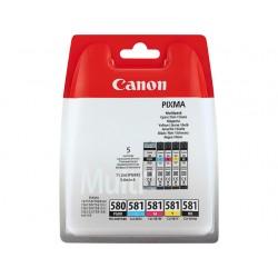 Pack 1 x PGI-580PGBK + 4 cartouches CLI-581 Canon pour Gamme PIXMA TS8150 ...
