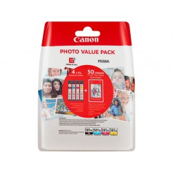 Multipack 4 x CLI-581XL Haute capacité + papier photo Canon pour Gamme PIXMA TS8150 ...