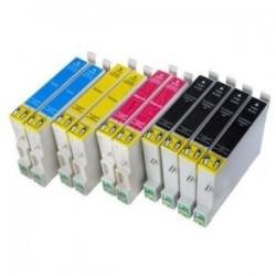 Pack de 10 Cartouches génériques pour Epson Stylus DX6050 / 4000 / 5000... ( 4BK/2C/2M/2Y )