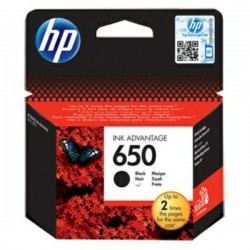 Cartouche Noire HP n°650 pour Deskjet Ink Advantage 1518/ 2545/ 3515...