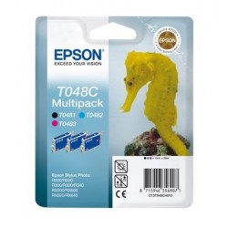 Multipack cartouche Epson Noir/Cyan/Magenta T048C