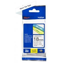 Cassette à ruban Brother pour étiqueteuse Noir sur blanc (TZ-241)  18mm