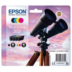 Multipack 4 encres CMYK Epson pour WorkForce WF-2860dwf ... (n°502).
