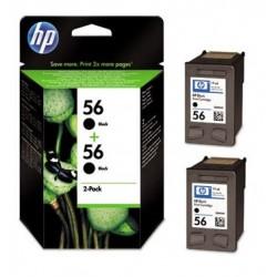 Pack de 2 cartouches Noires HP pour Deskjet 450 ... (N°56)