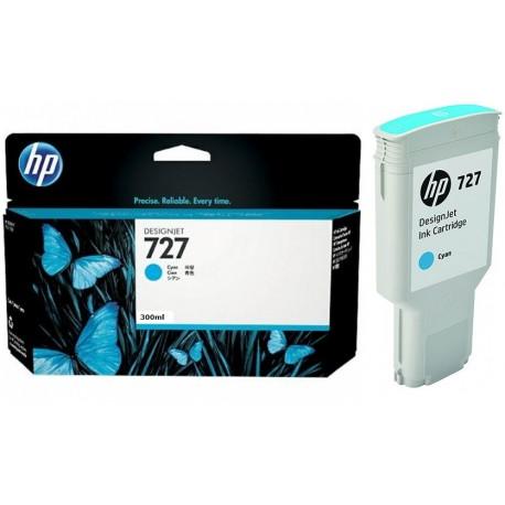 Cartouche Cyan Haute capacité HP pour Designjet T1500 / T2500 / T920 (N°727)