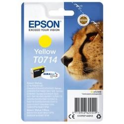 Cartouche d'encre jaune Epson pour Stylus DX6050 / 4000 / 5000 (T0714)