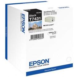 Cartouche noire Epson pour WorkForce pro WP-M4525dnf...(T7431)