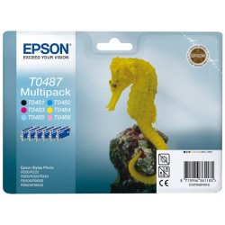 Multipack 6 cartouches Epson R200/R300...(T0487)