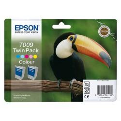 Double pack cartouche Encre 5 Couleurs EPSON (T009)