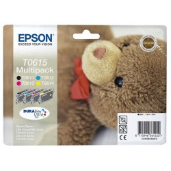 Pack de 4 cartouches EPSON T0611 T0612 T0613 T0614 (Cyan/Magenta/Jaune/Noire)