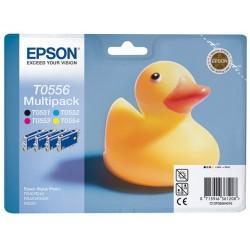 Cartouche d'encre Epson Lot T0551/T0552/T0553/T0554