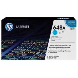 Toner cyan pour imprimante HP ColorLaserJet CP4025 / CP4525 (648A)