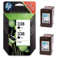 Pack de 2 cartouches noires HP pour Deskjet 6520 (N°338)