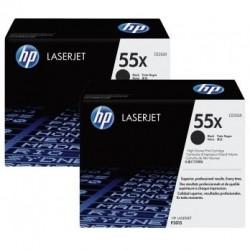 Pack de 2 toners noirs HP haute capacité pour laserjet P3010  (55X)