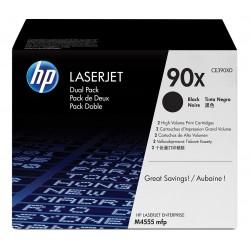 Pack de 2 Toners noirs haute capacité HP pour laserjet M4555, M602, M603 (90X)