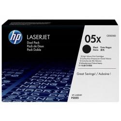 Pack de 2 Toners noirs longue durée HP pour laserjet P2055 (505X)