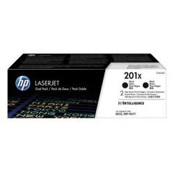 Pack 2 Toner noir HP haute capacité pour Color LaserJet Pro M252 / M277.... (201X)