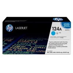 Toner HP cyan pour Color LaserJet 2600n (124A)