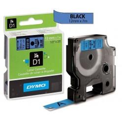 Ruban Dymo D1 (45016) 12mm x 7m Noir sur bleu pour LabelManager ...