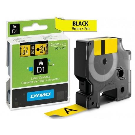 Ruban Dymo D1 (45018) 12mm x 7m Noir sur jaune pour LabelManager ...