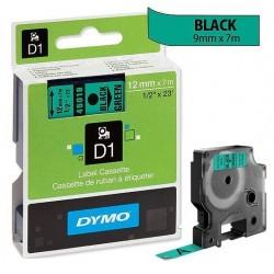 Ruban Dymo D1 (45019) 12mm x 7m Noir sur vert pour LabelManager ...