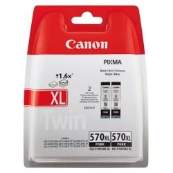 Pack 2 Cartouches d'Encre Noire (PGI-570PGBK XL) Haute capacité pour Canon Pixma MG 5750 / MG 6850...