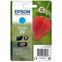 Cartouche Cyan Epson pour Expression Home XP-235 / XP332 / XP-432 ... (n°29 - fraise) (C13T29824012)