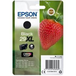 Cartouche Noire Epson Haute Capacité pour Expression Home XP-235 / XP332 / XP-432 ... (n°29XL - fraise) (C13T29914012)