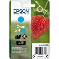 Cartouche Cyan Epson Haute Capacité pour Expression Home XP-235 / XP332 / XP-432 ... (n°29XL - fraise) (C13T29924012)