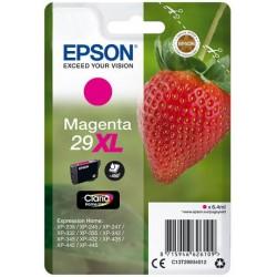 Cartouche Magenta Epson Haute Capacité pour Expression Home XP-235 / XP332 / XP-432 ... (n°29XL - fraise) (C13T29934012)