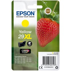 Cartouche Jaune Epson Haute Capacité pour Expression Home XP-235 / XP332 / XP-432 ... (n°29XL - fraise) (C13T29944012)