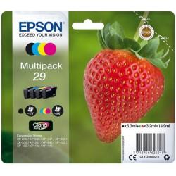 Multipack 4 couleurs Epson pour Expression Home XP-235 / XP332 / XP-432 ... (n°29 - fraise) (C13T29864012)