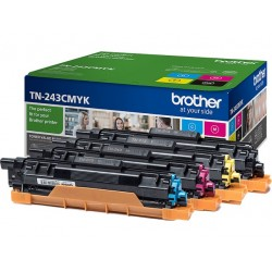 Pack 4 Toner Brother pour DCP L3510CDW/ HL L3210CW/ MFC L3710CW ... (TN243CMYK)