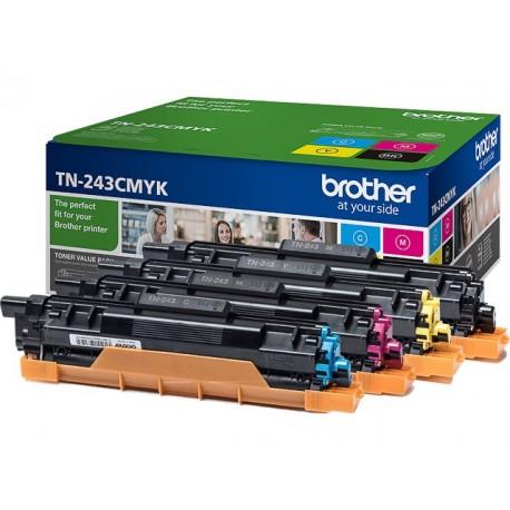 Pack 4 Toners Brother pour DCP L3510CDW/ HL L3210CW/ MFC L3710CW ... (TN243CMYK)