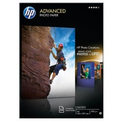 Papier photo A4 brillant HP Advanced - 25 feuilles - 250g