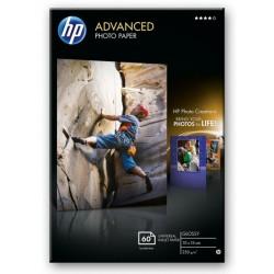 Papier photo 10 x 15 brillant sans bordure HP Advanced - 60 feuilles - 250 gr - Finition brillante