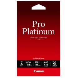 Canon PT-101 Pack 20 feuilles papier photo professionnel 10x15cm (PT101) - 300g